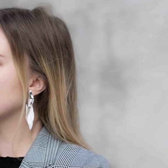 HASLA Pebbled, Formed By A Glacier earrings