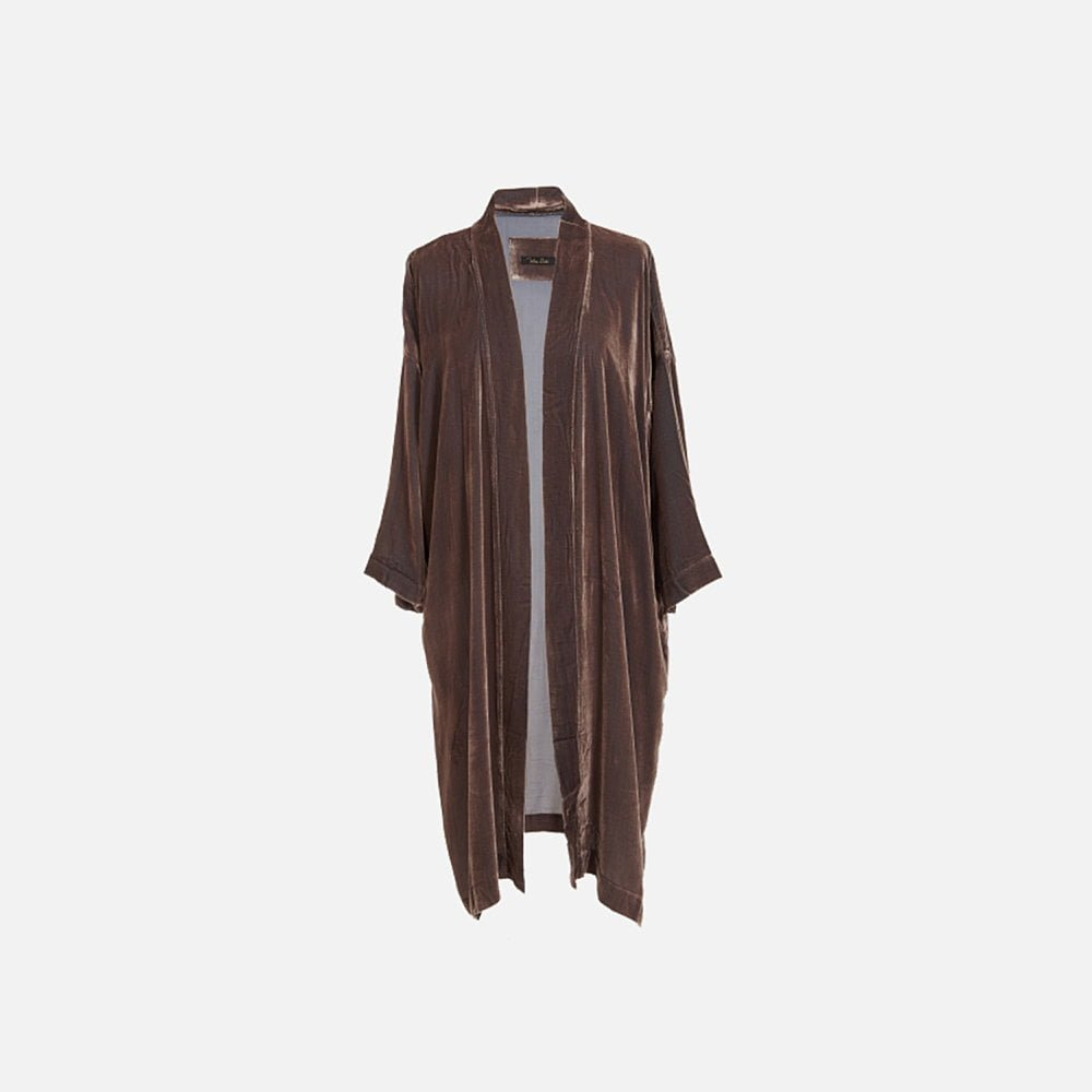 Vibeke Scott Kimono Nougat Silk Velvet