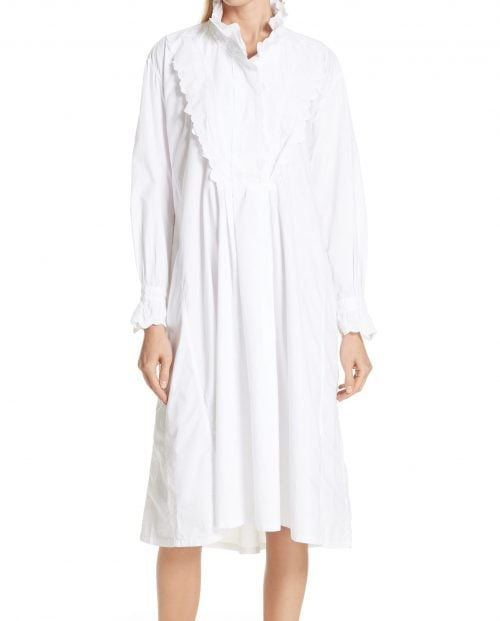 isabel-marant-etoile-molan-dress-hvit-bomulls-kjole