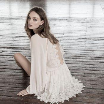 Magali Pascal Harmony dress Dusty White