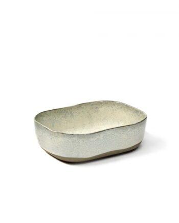 Stor rektangulær skål/dyp tallerken i fargen off-white fra serviset Merci - La Nouvelle Table.