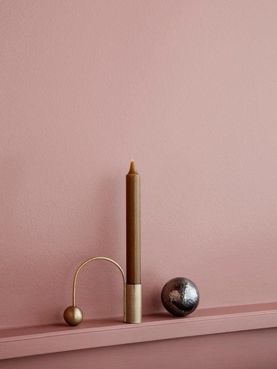 Balance candleholder messing