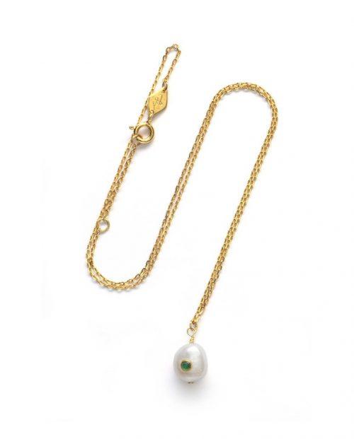 ANNI LU Baroque Pearl smykke - Green Agate