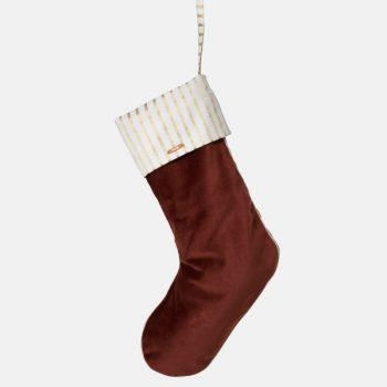 Christmas Velvet Stocking - Rust