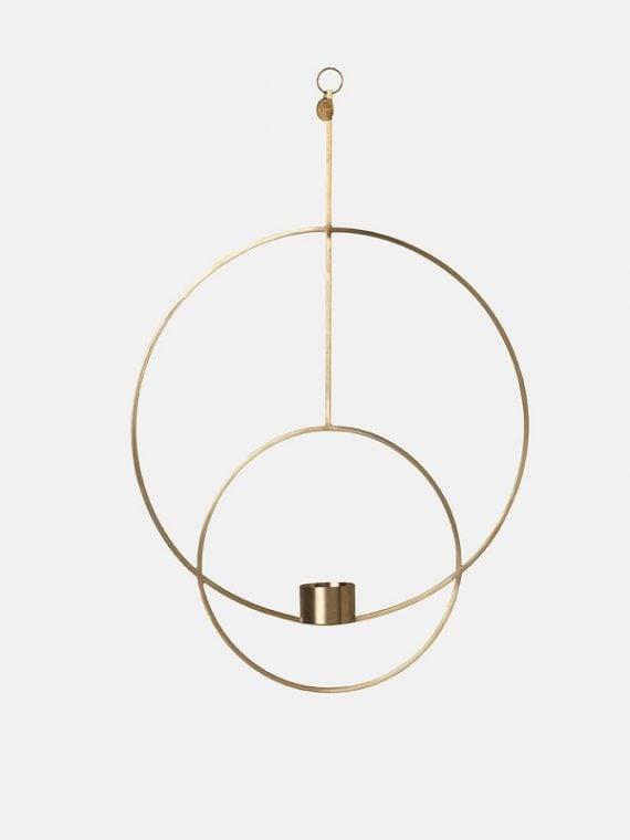 Ferm Living Hanging Tealight Deco - Circular - Brass