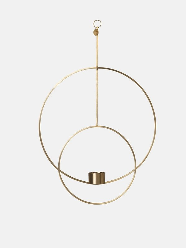 Ferm Living Hanging Tealight Deco - Circular - Brass