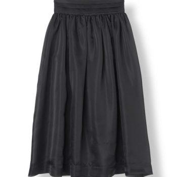 Ganni Seneca Silk Skirt Sort