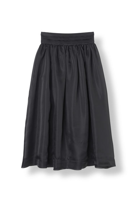 Ganni Seneca Silk Skirt Sort