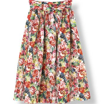Ganni seneca multicolour flower skirt