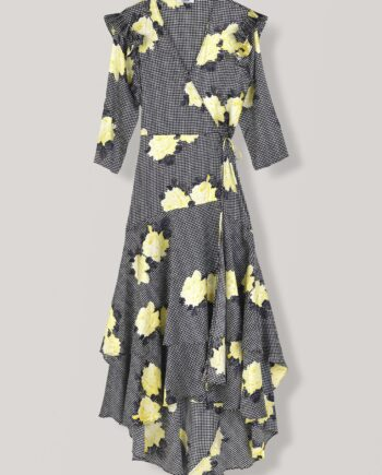 Ganni Calla Silk Wrap dress