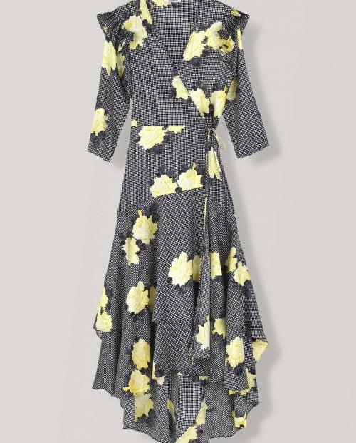 Ganni Calla Silk Wrap dress