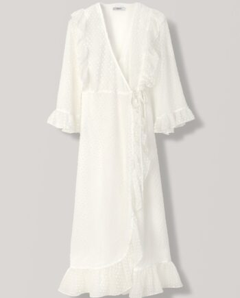 Ganni Jasmine Wrap dress / Egret