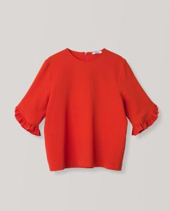 Ganni Clark Blouse / Big Apple red
