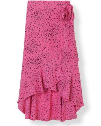 ganni-barra-crepe-maxi-skirt-hot-pink