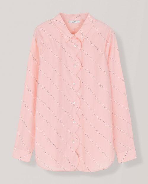 Ganni Printed Poplin skjorte