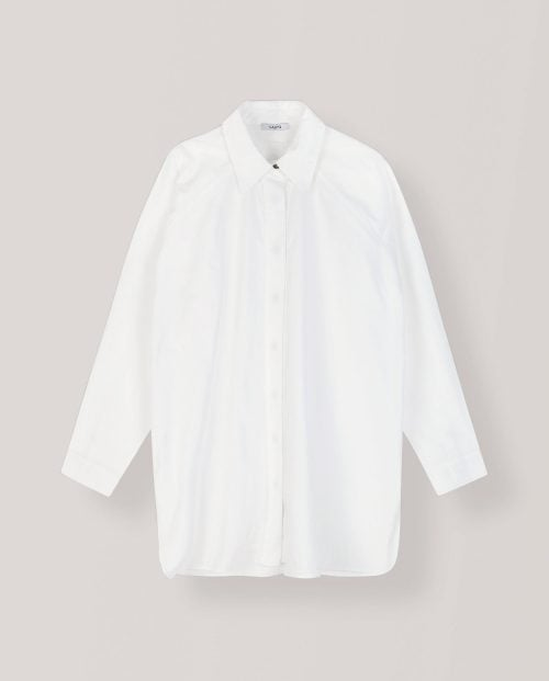 Ganni PLAIN COTTON POPLIN SKJORTE