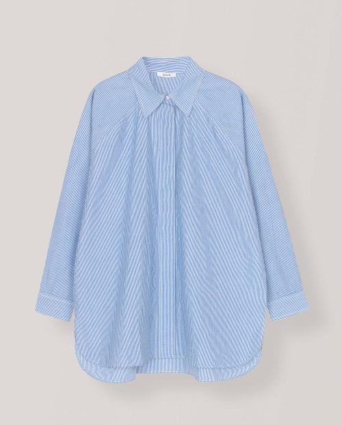 Ganni STRIPED COTTON POPLIN SKJORTE