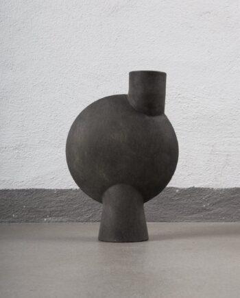 sphere-vase-bubl-midi-dark-grey