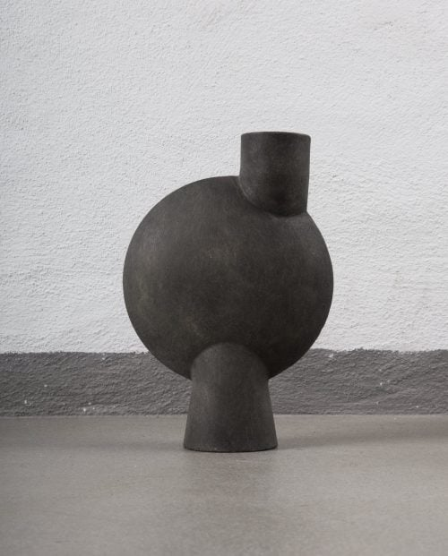 sphere-vase-bubl-midi-dark-grey