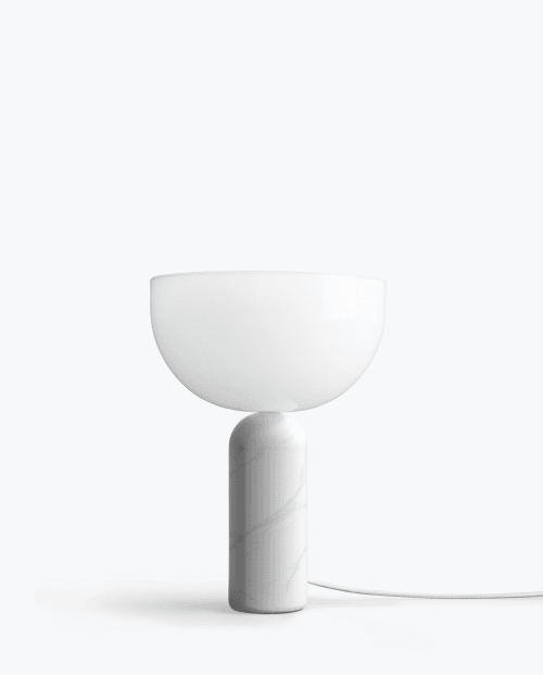 Kizu+Table+Lamp+White+Marble,+Small
