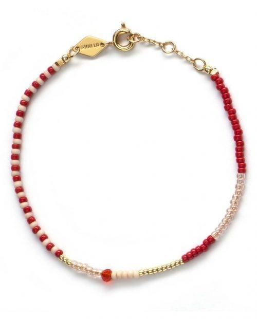 ANNI LU Armbånd - Mess bracelet - Ruby
