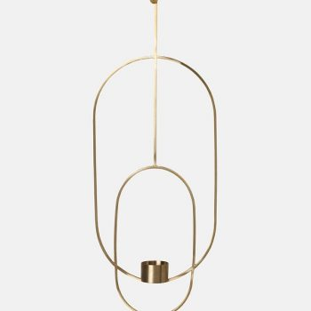 Ferm Living Hanging Tealight Deco - Oval - Brass