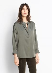 Shirred Drape Pullover Frog