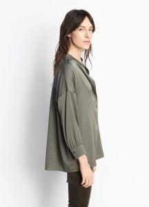 Shirred Drape Pullover Frog side
