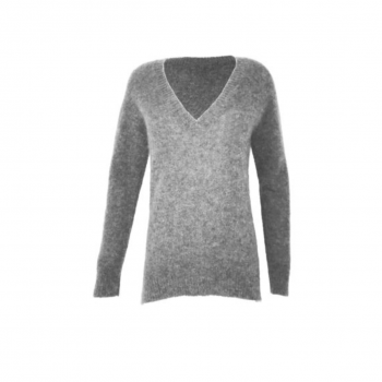 NEO NOIR V-NECK GISELE SWEATER Light grey