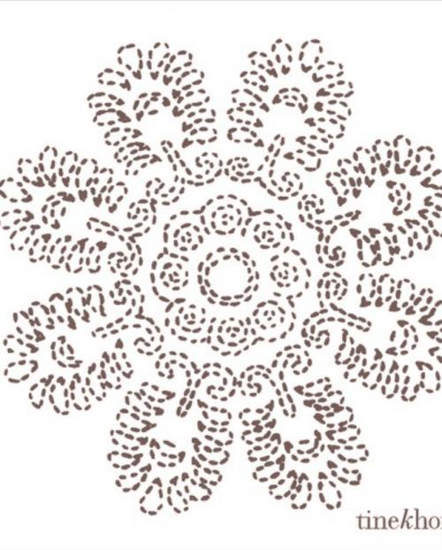 TINE K HOMEPaper napkins w. port flower, S