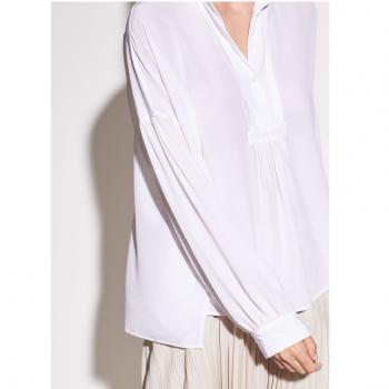 VINCE Shirred silk blouse