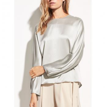 VINCE Slit back blouse, Mist