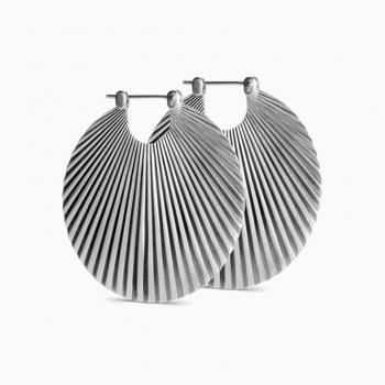 Jane König Big Shell øreringer sølv