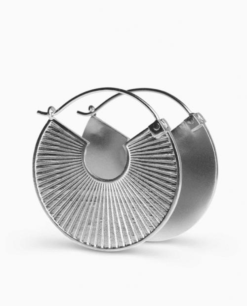 Jane König Plissé øreringer Sølv