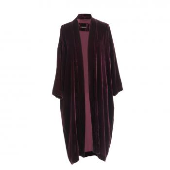 Vibeke Scott Kimono Aubergine Silk Velvet