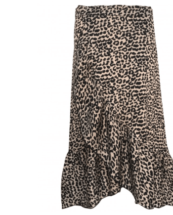 Neo Noir Elena Leo print skirt