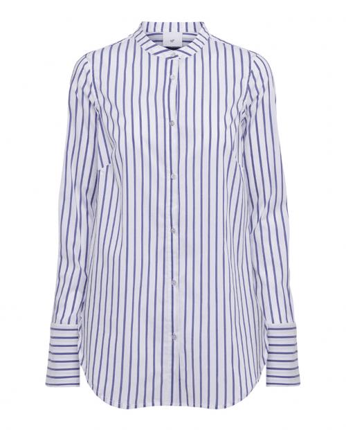 JULIE FAGERHOLT HEARTMADE MOLA SHIRT Hvit/blå striper