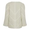 En nydelig offwhite jakke i ull blanding fra Heartmade