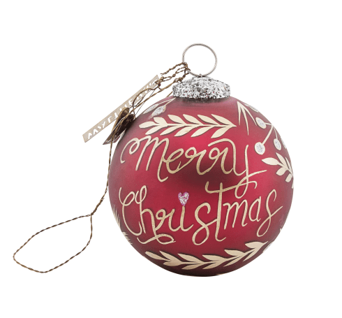 "Walther & Co Julekule ""Merry Christmas"" sølv, 10cm"