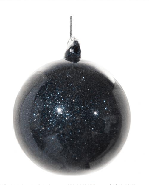 Julekule blå/glitter