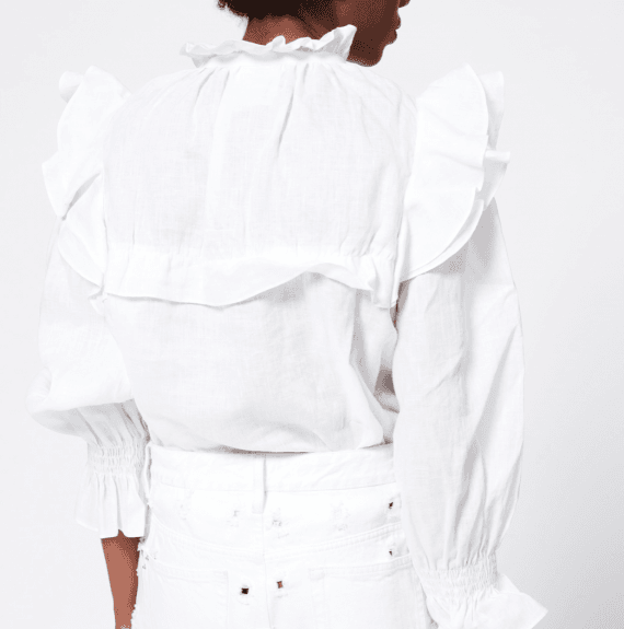 Isabel Marant Etoile TEDY TOP WHITE