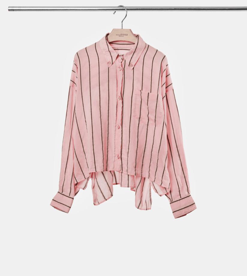 269d64f2 Isabel Marant Etoile YCAO SKJORTE - Light Pink - Bohemia Stripet skjort