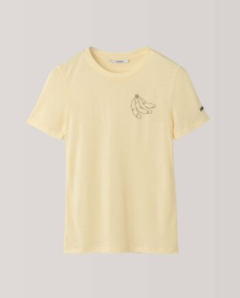 GANNILinfield Lyocell T-shirt, Banana