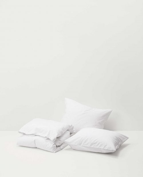TEKLA Stone washed cotton percale, Broken white