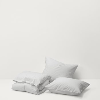 TEKLA Sengetøy Bomull, Soft grey