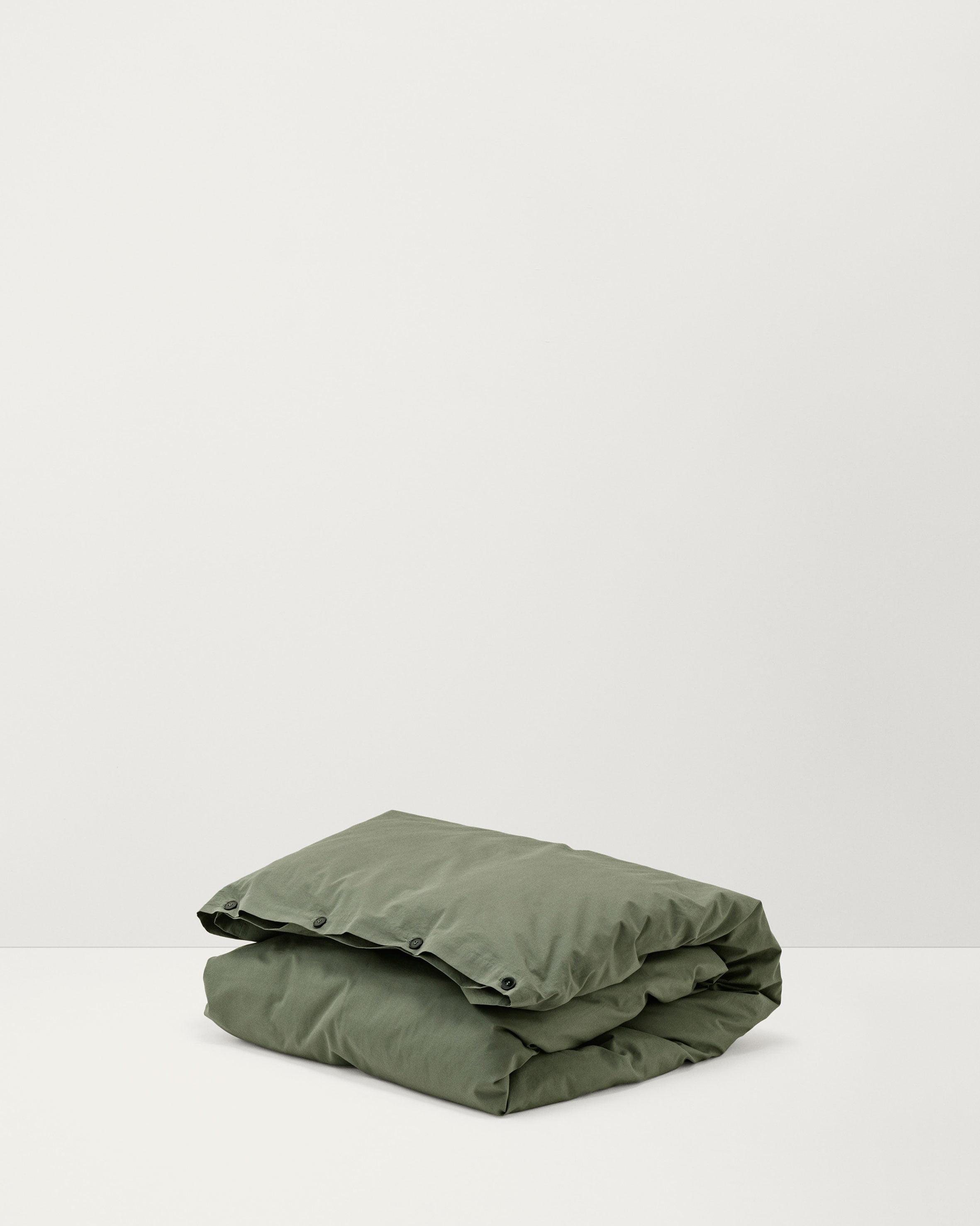 TEKLA Sengetøy Bomull, Olive green