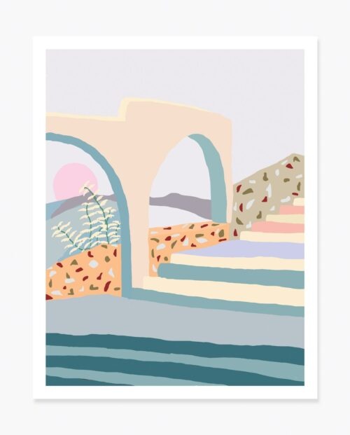 Slowdown Studio Terrazzo Stairs Art Print