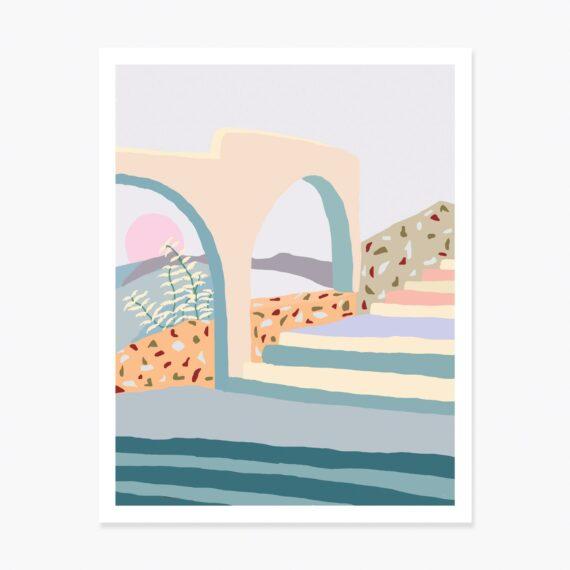 Slowdown Studio Terrazzo Stairs Art Print
