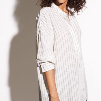 VINCE Silke bluse med striper