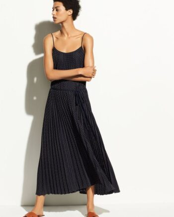 vince-polka-dot-pleated-cami-dress